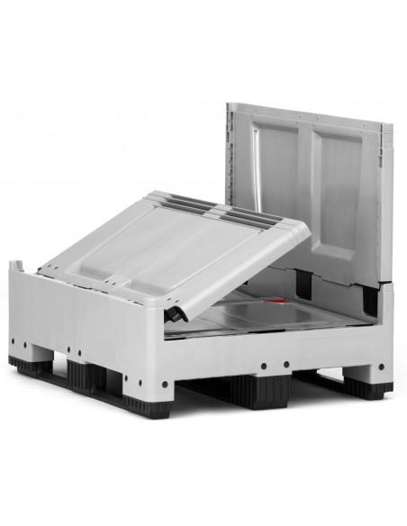 800 x 1200 x 1000 mm, Großbox klappbar mit 3 Kufen
