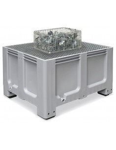 1000 x 1200 x 760 mm, Auffangbehälter + Rost