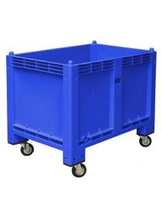 800 x 1200 mm, Großbox mit Rollen, flüssigkeitsdicht