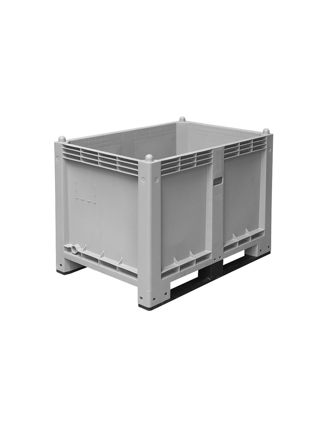 800 x 1200 mm, Großbox mit Kufen, flüssigkeitsdicht