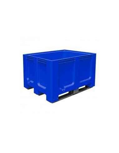1000 x 1200 mm , Großbox mit Kufen, flüssigkeitsdicht