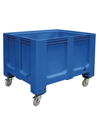 1000 x 1200 mm, Großbox mit Rollen u. Bremse, flüssigkeitsdicht