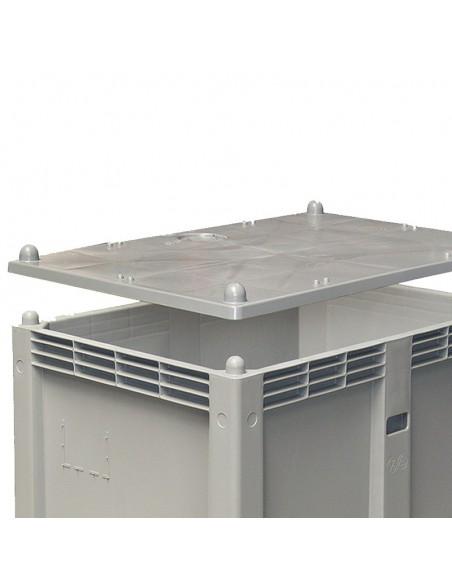 Deckel 800 x 1200 mm zu Großboxen flüssigkeitsdicht Hygiene