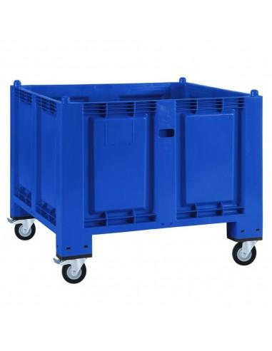 800 x 1200 mm, Großbox mit Rollen u. Bremse, flüssigkeitsdicht