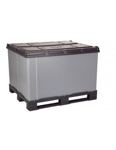 1200 x 1200 x 1100 mm Faltbox mit 3 Kufen
