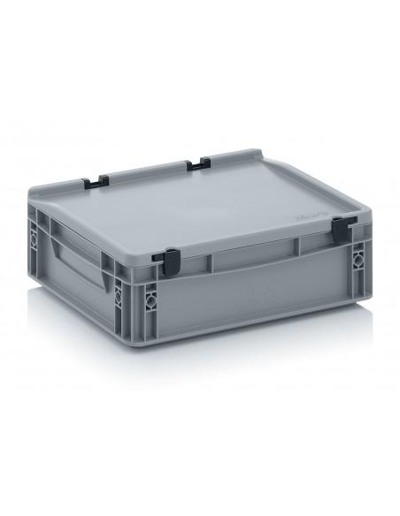 400 x 300 x 120 mm, Eurobehälter mit Schanierdeckel