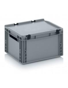 400 x 300 x 220 mm, Eurobehälter mit Schanierdeckel