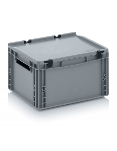400 x 300 x 220 mm Eurobehälter Scharnierdeckel