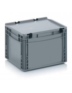 400 x 300 x 270 mm, Eurobehälter mit Schanierdeckel