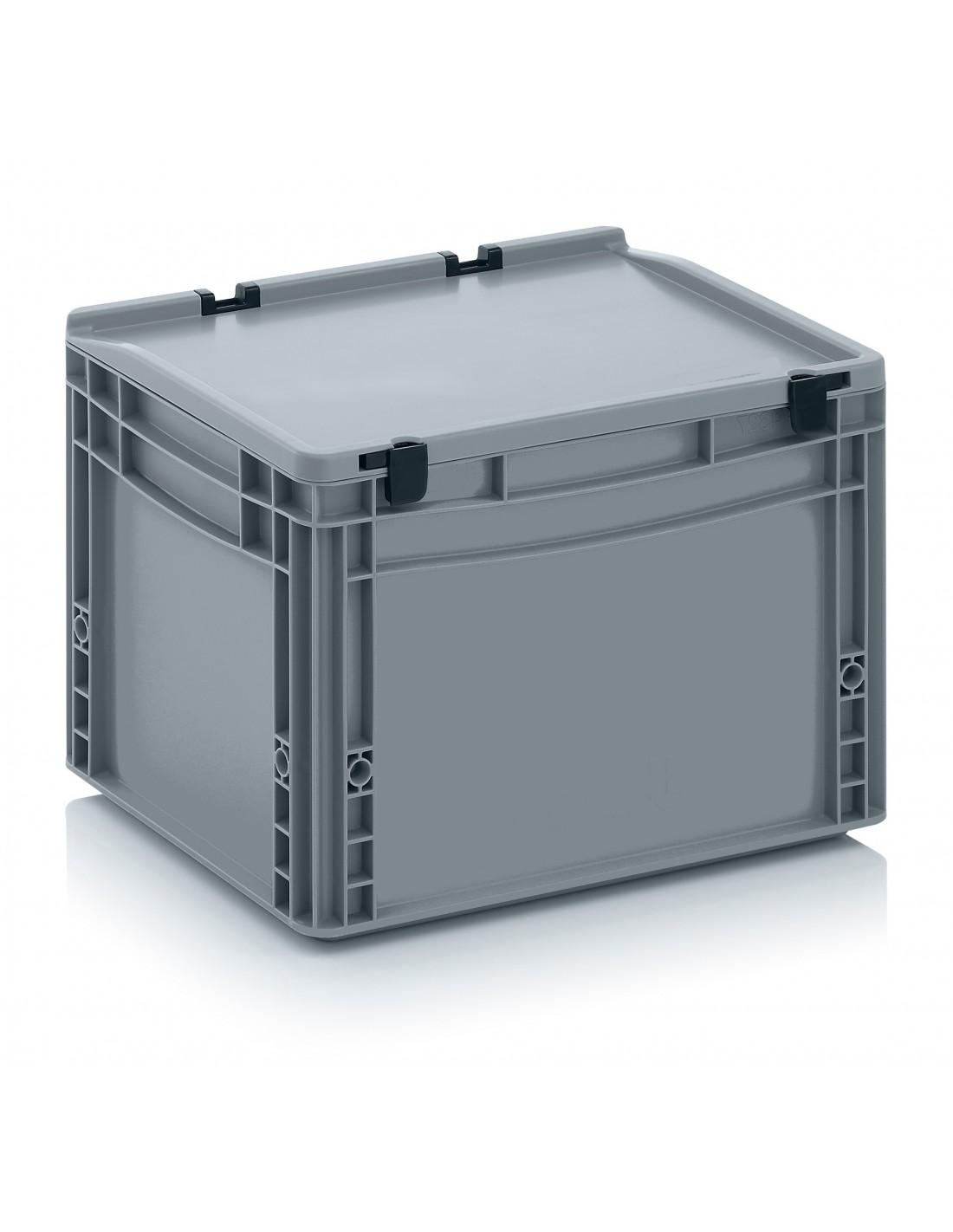 400 x 300 x 270 mm Eurobehälter Scharnierdeckel