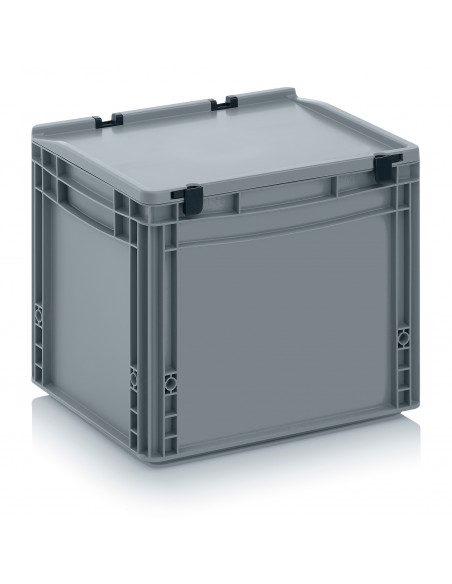 400 x 300 x 320 mm, Eurobehälter mit Schanierdeckel
