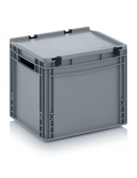 400 x 300 x 320 mm Eurobehälter Scharnierdeckel