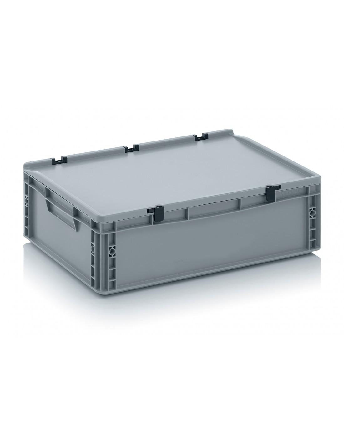 600 x 400 x 170 mm, Eurobehälter mit Schanierdeckel