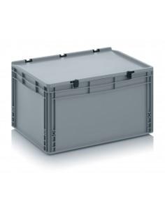 600 x 400 x 320 mm, Eurobehälter mit Scharnierdeckel