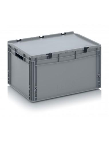 600 x 400 x 320 mm Eurobehälter Scharnierdeckel