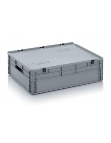800 x 600 x 220 mm, Eurobehälter mit Schanierdeckel