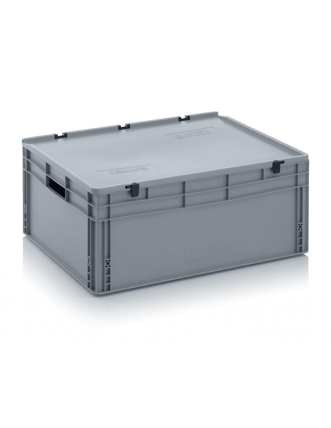 800 x 600 x 320 mm Eurobehälter Scharnierdeckel