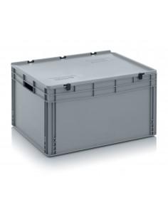 800 x 600 x 420 mm, Eurobehälter mit Schanierdeckel