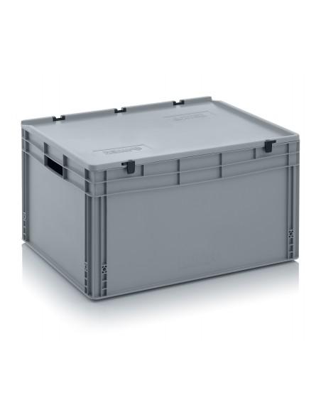 800 x 600 x 420 mm Eurobehälter Scharnierdeckel