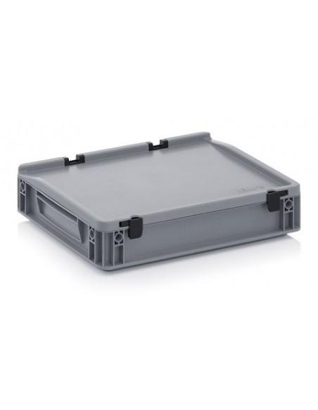 400 x 300 x 7,5 mm, Eurobehälter mit Schanierdeckel