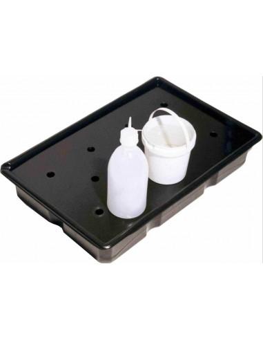 16 Liter Auffangwanne aus Kunststoff mit Lochplatte