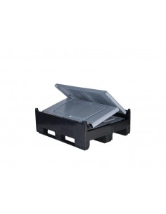 Großbox klappbar mit Lüftungsschlitzen und 4 Füßen, II. Wahl
