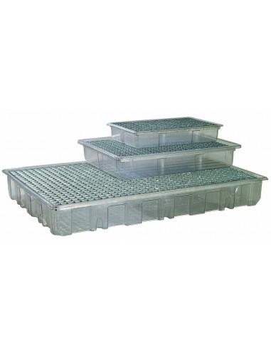 41 Liter Auffangwanne glasklar mit Rost