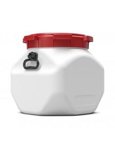 40 Liter Weithalsfass Curtec quadratisch mit Schraubdeckel
