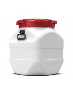 50 Liter Weithalsfass Curtec quadratisch mit Schraubdeckel