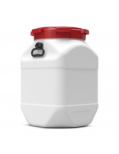 66 Liter Weithalsfass Curtec quadratisch mit Schraubdeckel