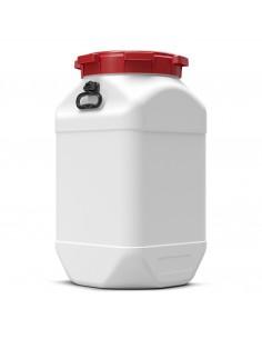80 Liter Weithalsfass Curtec quadratisch mit Schraubdeckel
