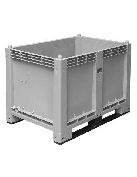 800 x 1200 mm, anthrazit, Großbox mit Kufen, flüssigkeitsdicht