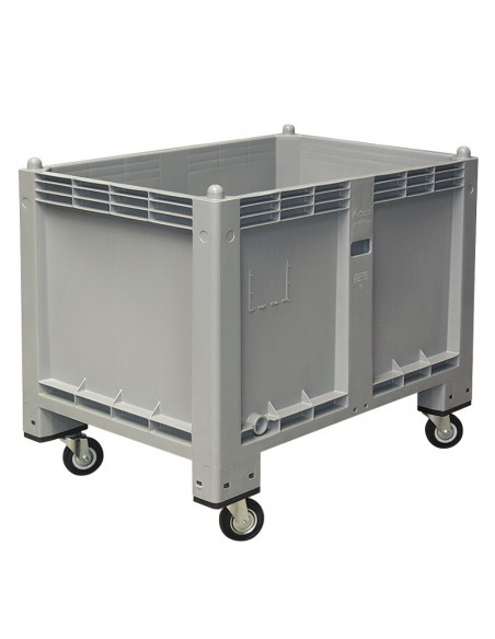 800 x 1200 mm Großbox anthrazit mit Rollen flüssigkeitsdicht