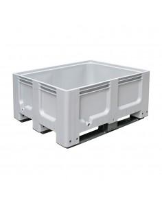 1000 x 1200 x 580 mm, Großbox mit Kufen, flüssigkeitsdicht