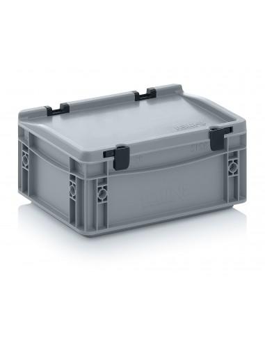300 x 200 x 135 mm Eurobehälter Scharnierdeckel