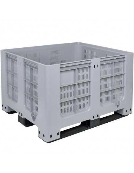 Großbox durchbrochen mit 3 Kufen 1000 x 1200 mm