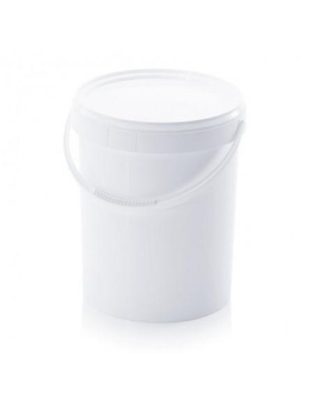 15,9 Liter Kunststoffeimer mit Deckel