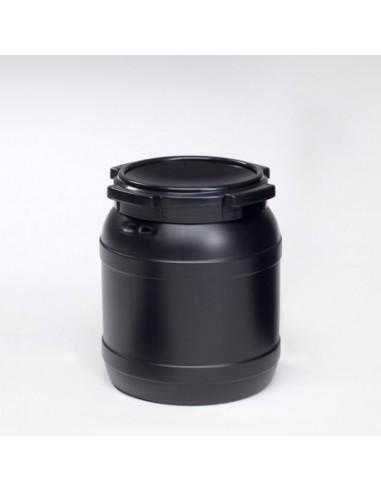 15 Liter Curtec Weithalsfass schwarz UV